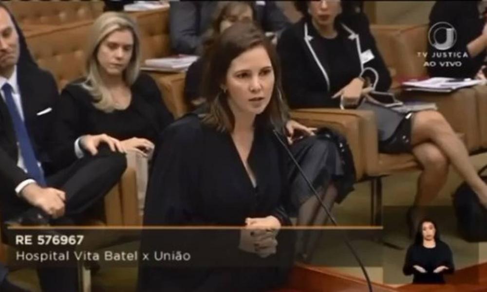 Daniela Borges, advogada que Marco Aurélio Mello corrigiu Foto: Reprodução