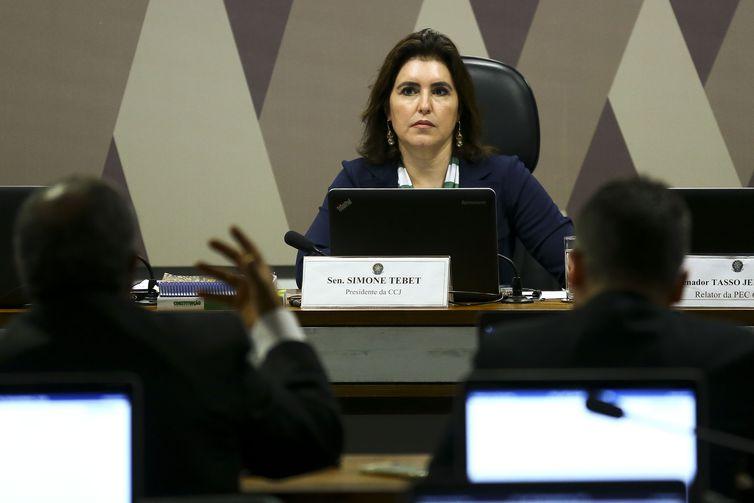 Senadora Simone Tebet, presidente da CCJ do Senado, marcou para terça-feira (10), votação da proposta que estabelece prisão para condenados em segunda instância - Foto: Arquivo/Agência Brasil