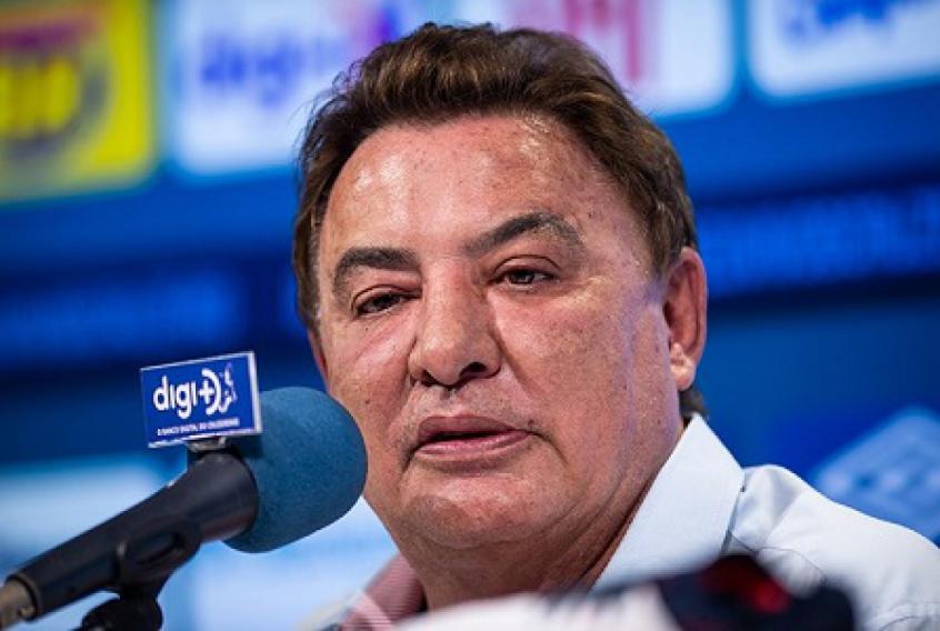 O ex-presidente do clube ficou pouco mais de dois meses no cargo e não conseguiu evitar o rebaixamento da Raposa - Foto: Vinncius Silva/Cruzeiro