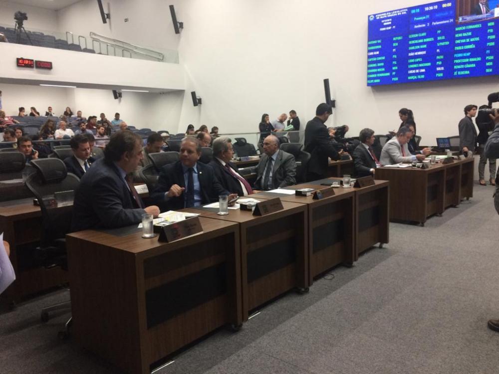 Deputados estaduais durante sessão desta quinta - Foto: Izabela Jornada/Correio do Estado