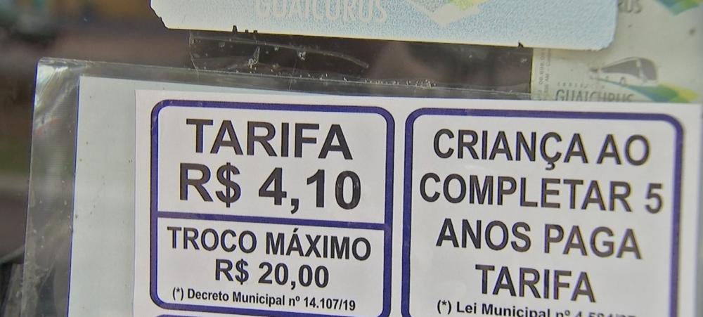 TCE determinou suspensão da atual tarifa de R$ 4,10 — Foto: Reprodução/TV Morena