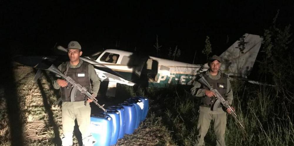 Aeronave foi apreendida na Venezuela e dois presos são de MS, segundo a polícia — Foto: Redes sociais/Divulgação