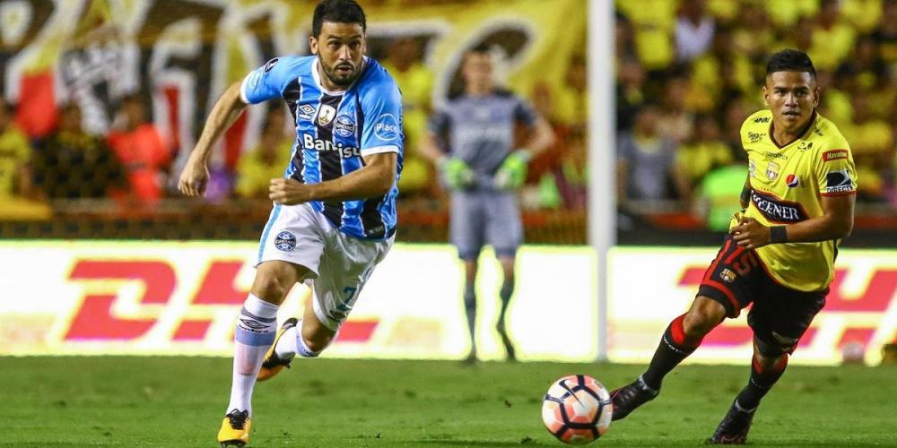 Edílson foi peça importante na campanha do título da Libertadores de 2017 do Tricolor - Foto: Lucas Uebel/Grêmio/Divulgação/CP