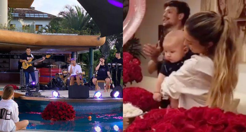 Gabi Brandt comemora os 24 anos e ganha homenagem romântica de Saulo em festa (Foto: Reprodução/Instagram @prmarcioponcio @gossipdodia)