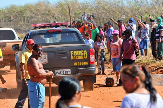 Em 2016, confronto terminou com morte de índio em Caarapó - Foto: Valdenir Rezende/Arquivo/Correio do Estado