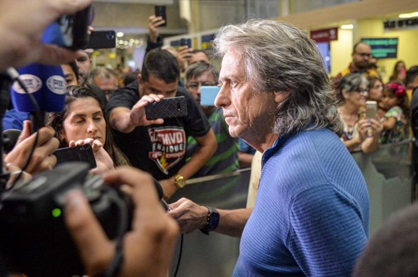 Jorge Jesus em seu retorno ao Rio de Janeiro - Foto: Marcelo Cortes/CRF
