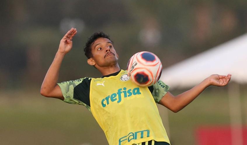 Gustavo Scarpa foi para os EUA com a delegação e não jogou à espera de definição - Foto: Cesar Greco/Agência Palmeiras