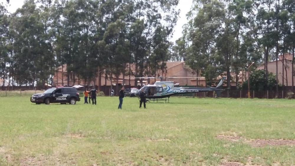 Operação para transferência de traficante de Ponta Porã para Dourados, em Mato Grosso do Sul — Foto: Osvaldo Duarte