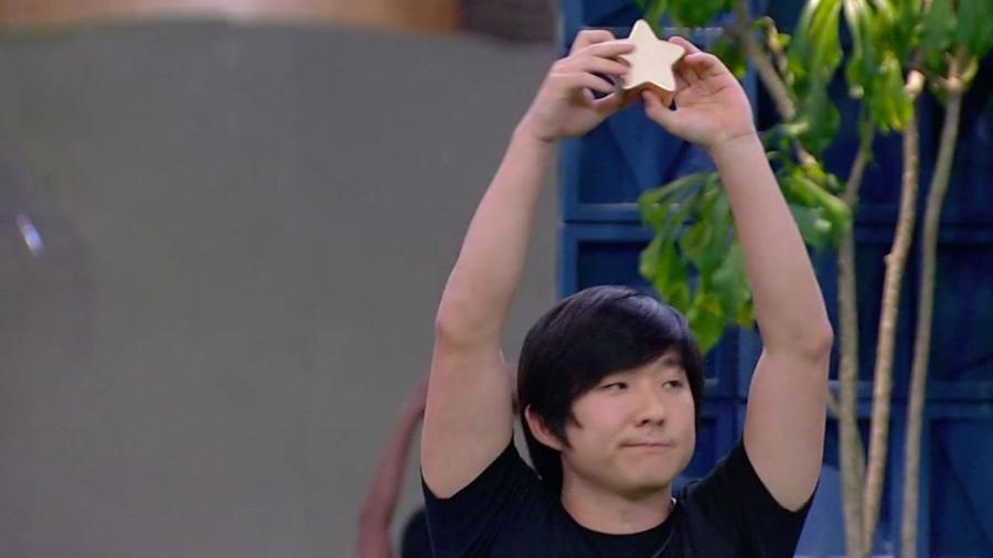 Pyong vence prova Bate e Volta e está fora do paredão - Foto: Reprodução/TV Globo