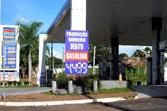 Este é um dos postos de Campo Grande que não faz questão de mostrar o preço do etanol - Foto: Álvaro Rezende