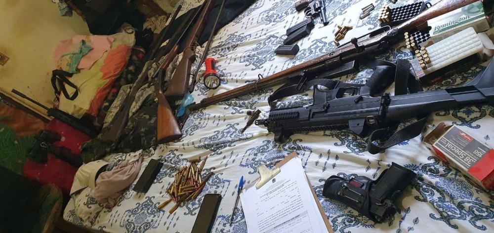 Armas apreendidas na operação da PF — Foto: Polícia Federal/Divulgação