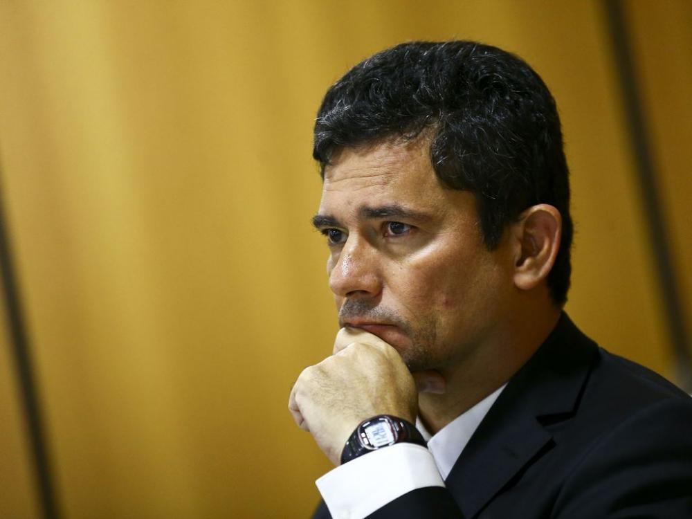 O ministro Sergio Moro durante entrevista em Brasília - Foto: Marcelo Camargo/Agência Brasil