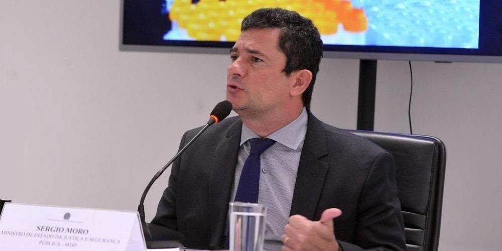 Sergio Moro concedeu entrevista coletiva nesta sexta-feira - Foto: Isaac Amorim/MJSP