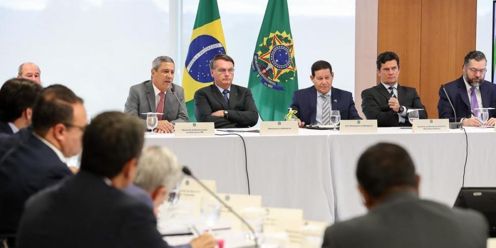 Reunião do presidente Jair Bolsonaro com ministros ocorreu no dia 22 de abril no Palácio do Planalto - Foto: Marcos Corrêa/PR