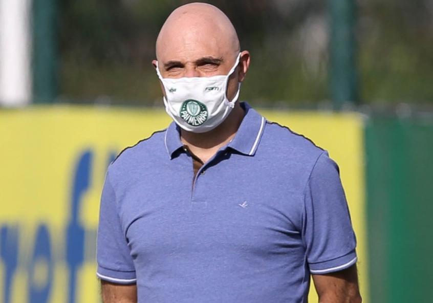 O presidente Maurício Galiotte mantém contato com elenco para atualizar situação financeira - Foto: Agência Palmeiras