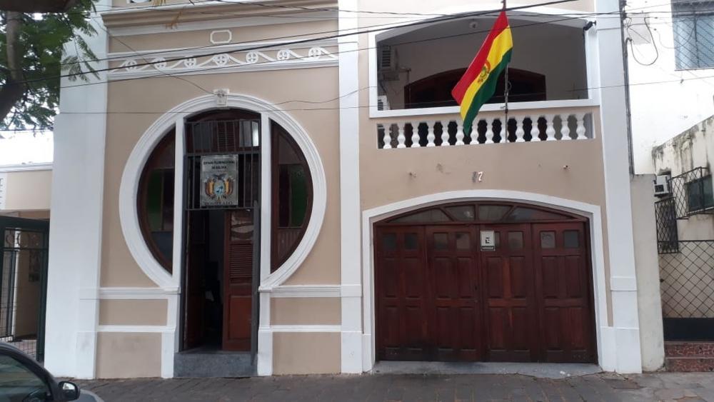 Consulado da Bolívia em Corumbá (MS) estende horário para fazer cadastramento biométrico. — Foto: Mario Torrez